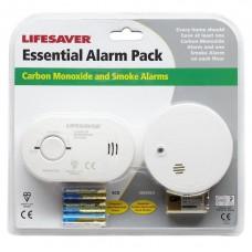 Lifesaver CO1SA6 Essential Carbon Monoxide and Smoke Alarm Pack