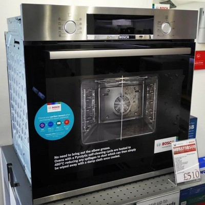 Bosch HBS573BS0B Integrated Single Electric Oven.  3D Hotair optimises the distribution of heat on up to 3 levels and with Pyrolytic self cleaning, you never have to clean the oven again.  RRP £649  We are currently selling this for £510.  But take advantage with the Bosch Choice Promotion and claim £100 cashback making this a great deal at £410.  @boschhomeuk #bosch #cooking #nocleaning #ovens #pyrolisis #pyrolitic #technology #food