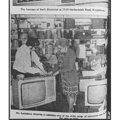 The original owner back in the 1970's.  Look at the retro televisions, when they were built to last.  Mr M. Lantsbery  #retro #builttolast #old #70sfashion #70s #70sstyle #independent #shop #kingsthorpe #northampton
