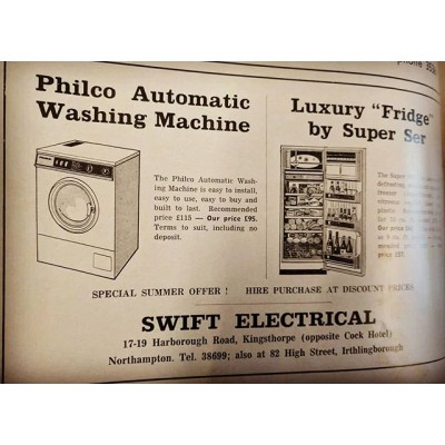 Blast from the Past. An advert from Circa 1980s.  @swiftelectrical #old #blastfromthepast #past #philco #washingmachines #builttolast #kingsthorpe #northampton #northamptonshire